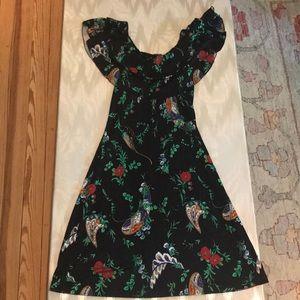 Silk Julie Brown Floral Dress